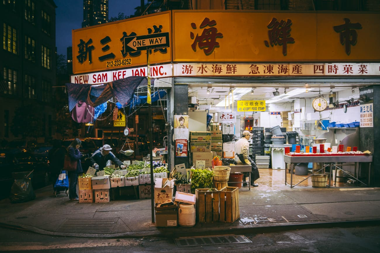 New York photography - Chinatown store