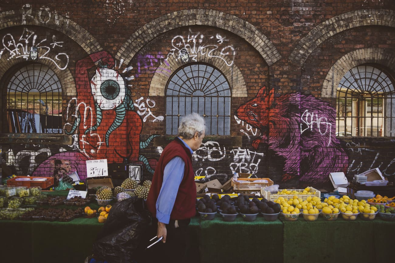 London photography - Brick Lane food market