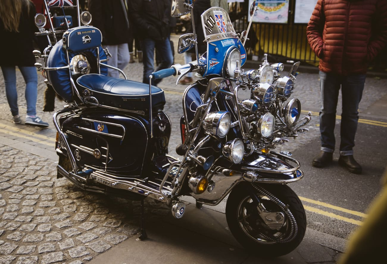 London photography - Brick Lane vintage motorcycle